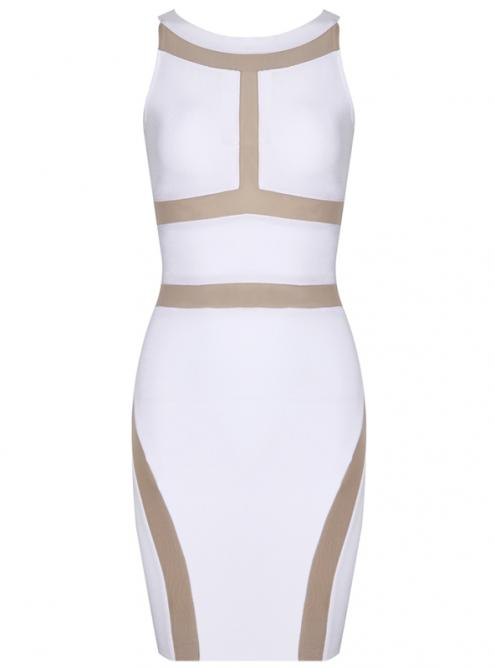 White Sexy Sleeveless Bandage Dress H652 $109