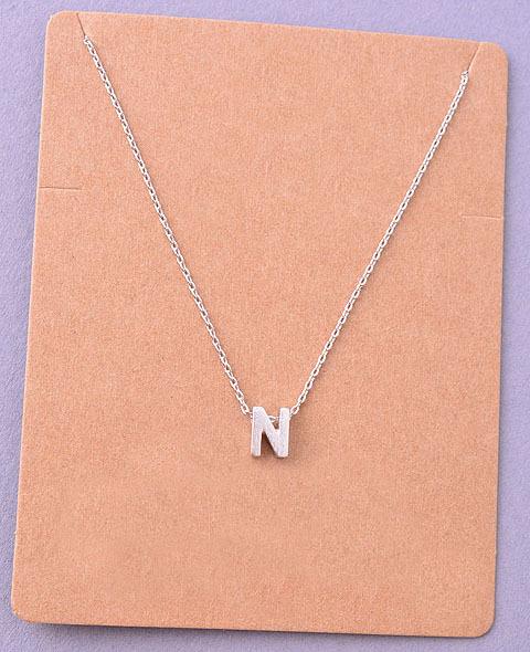 Dainty initial letter alpha pendant necklace