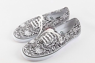 shoes black and white vans