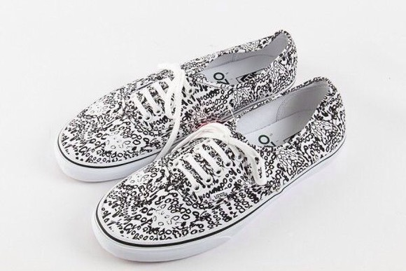 black and white vans authentic shoes