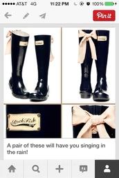 Rockfish Rain Boots With Bow