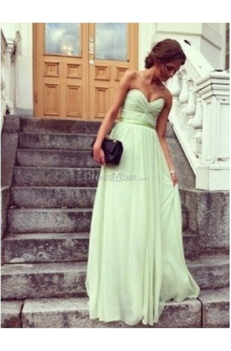 Line chiffon bridesmaid dress