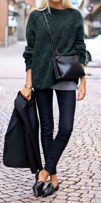 sweater green dark green green sweater dark green sweater fall outfits fall sweater
