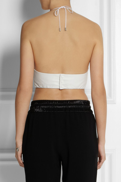 Rag & bone | Daytona cropped leather halterneck top | NET-A-PORTER.COM