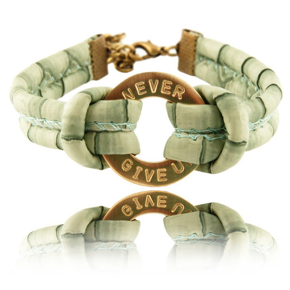 jewels mint personalized personalized bracelet bracelets bracelet friendship string cord circle gold jewelry never give up snake skin jewellery bijoux pulsera