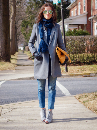 bittersweet colours coat sweater jeans shoes scarf bag sunglasses