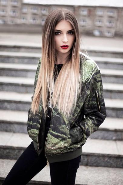 jacket fashion style green jacket forest bomber jacket streetwear blvck