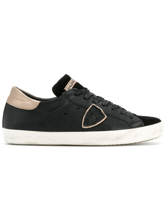 paris women sneakers leather suede black shoes