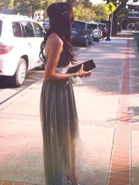 dress prom dress long prom dress high low prom dresses two tone dress skirt