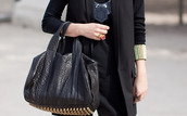 alexander wang,studded,leather,black bag,bag