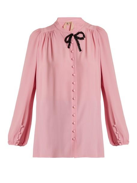 No. 21 blouse embellished pink top