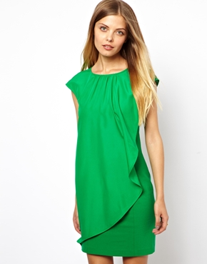 Ted Baker | Ted Baker Dress with Asymmetric Frill at ASOS