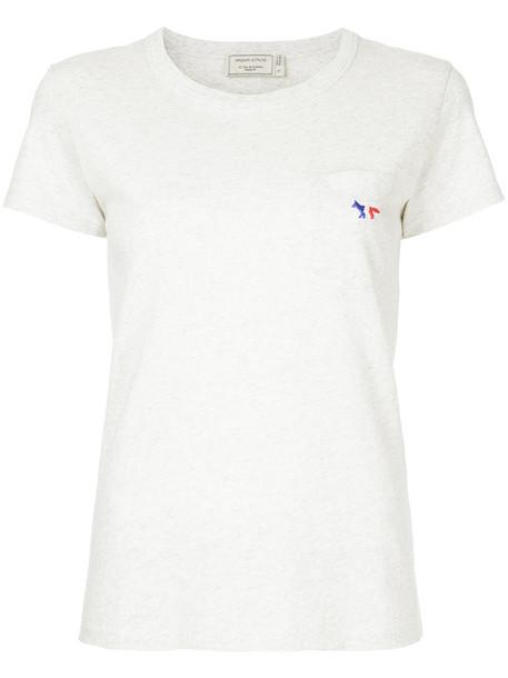 maison kitsune t-shirt shirt t-shirt women classic white cotton top