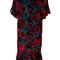 P.a.r.o.s.h. - floral print dress - women - silk/polyamide/viscose - l, blue, silk/polyamide/viscose