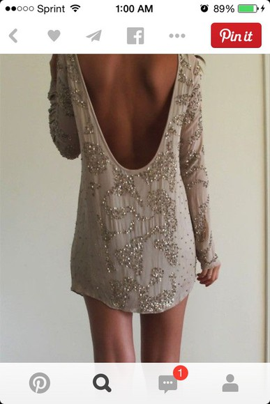 backless sparkly