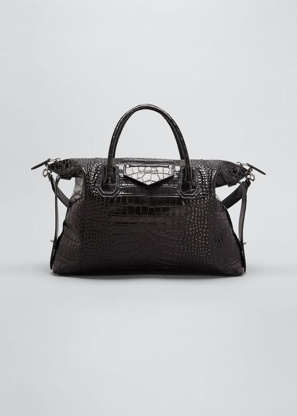 Croc-Embossed Antigona Soft Medium Bag