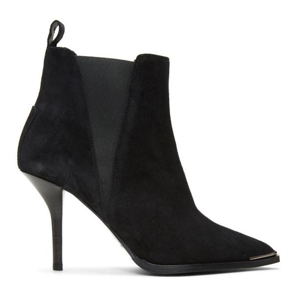 Acne Studios Black Suede Jemma Stiletto Boots
