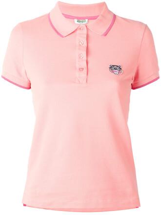 shirt polo shirt mini women tiger cotton purple pink top