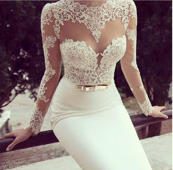 dress lace dress white lace dress pencil skirt