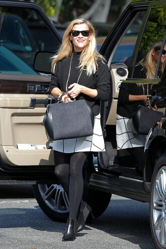 skirt ankle boots reese witherspoon fall outfits shoes
