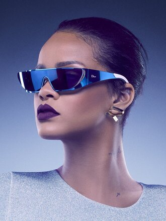 sunglasses blue rihanna top dior