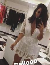 romper,white,jumper,jumpsuit,fashion,cute
