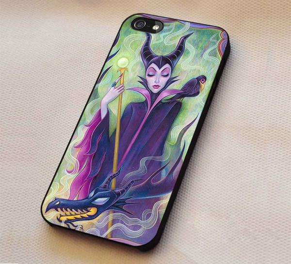 Maleficent Beauty Darkness iPhone 7 7  6s 6 Cases Samsung Galaxy S8 S7 edge S6 S5 NOTE 5 4