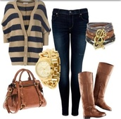 sweater,boots,fall outfits,winter outfits,denim,jeans,purse,watch,november,october,december,bag