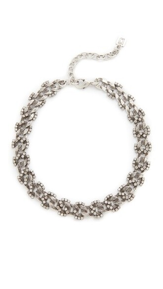 clear necklace silver jewels