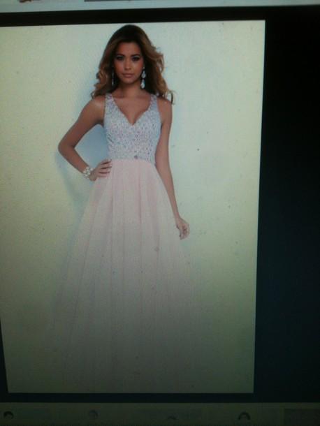 dress prom dress prom pink blush dresses