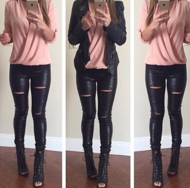 jacket jeans shirt blouse