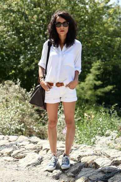 coline white shorts