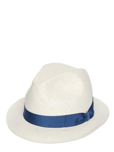 LUISAVIAROMA.COM - BORSALINO - TRILBY EXTRA FINE PAPER SMALL BRIM HAT