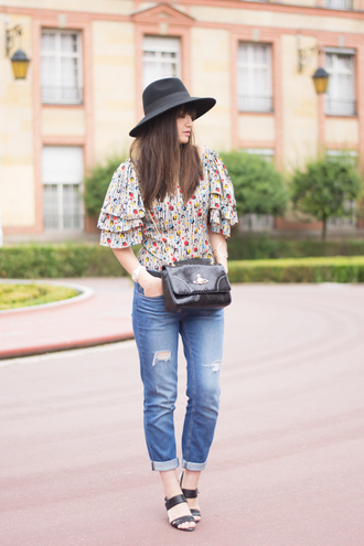 meet me in paree blogger top jeans bag jacket shoes