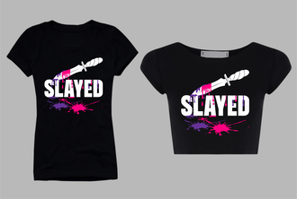 shirt t-shirt custom slayed tight trendy crop tops hip hop