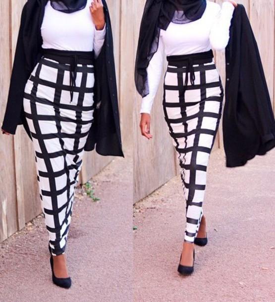 skirt black and white dress high waisted skirt long skirt
