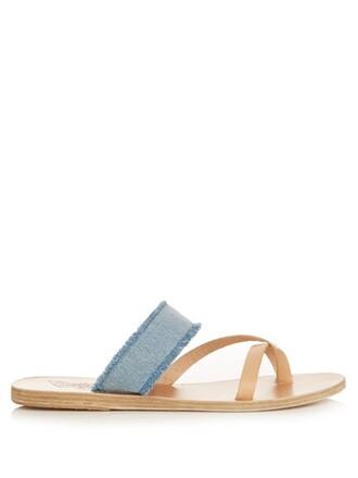 denim sandals leather sandals leather light shoes