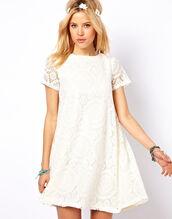 dress,boho,white,lace,summer,spring,short,mini,vintage,hippie,gypsy,retro,elegant,beach,weddingc,casuals,trendy,chic,2014