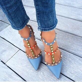 shoes ayamare blue summer spike straps high heels bronx brooklyn we go hard manhattan