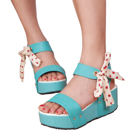 shoes sandal sweet blue