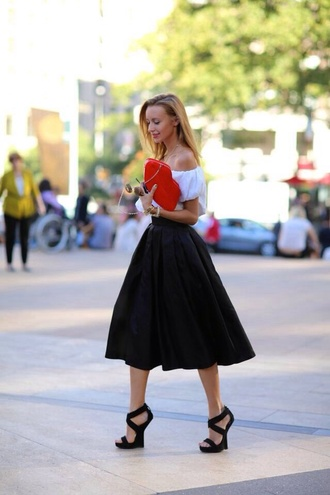 streetstyle black skirt fashion circle skirt