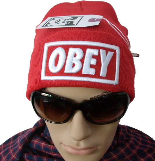 b8cc07b6738 New Hip Hop Supreme Obey Beanies Cotton Stay Warm Outdoor Knit ...