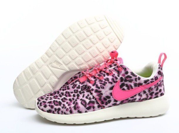 shoes leopard nikes roshe