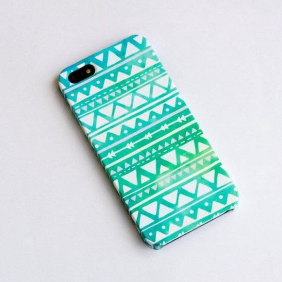 white turquoise iphone case phone case case