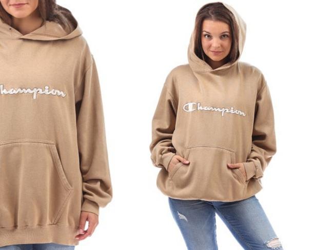 sweater beige cream champion hoodie champion women