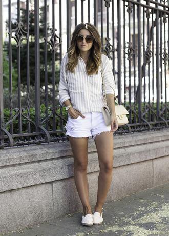 lovely pepa blogger shirt shorts shoes bag sunglasses jewels