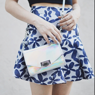 bag purse holographic crossbody bag small iridescent metallic