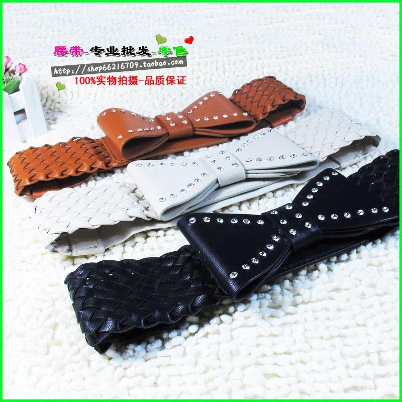 D58 spring and summer fashion women's belt women's cummerbund diamond accessories bow black cronyism-inBelts & Cummerbunds from Apparel & Accessories on Aliexpress.com