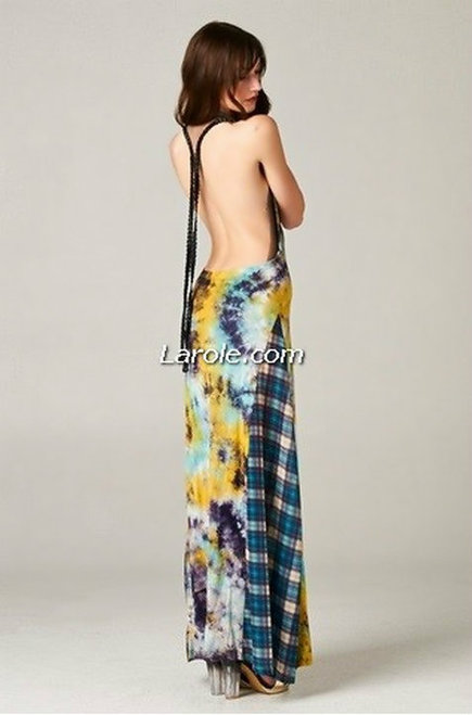 TOV Catch Me If You Can Backless Maxi Dress