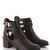Marlene Two Strap And Buckle Boot in Black at Fashion Union